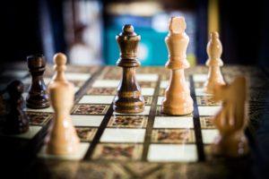 Photo of a chess set